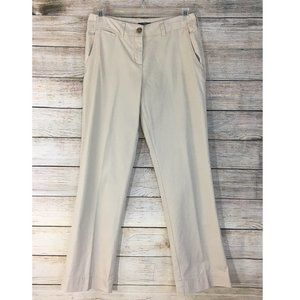 Madison Pants Flat Front Khaki Women's 6